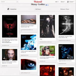 Gothic Pinterest Board