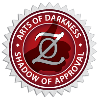 Arts of Darkness Shadow of Approval Award for Dark Arts and Artists from conradzero.com